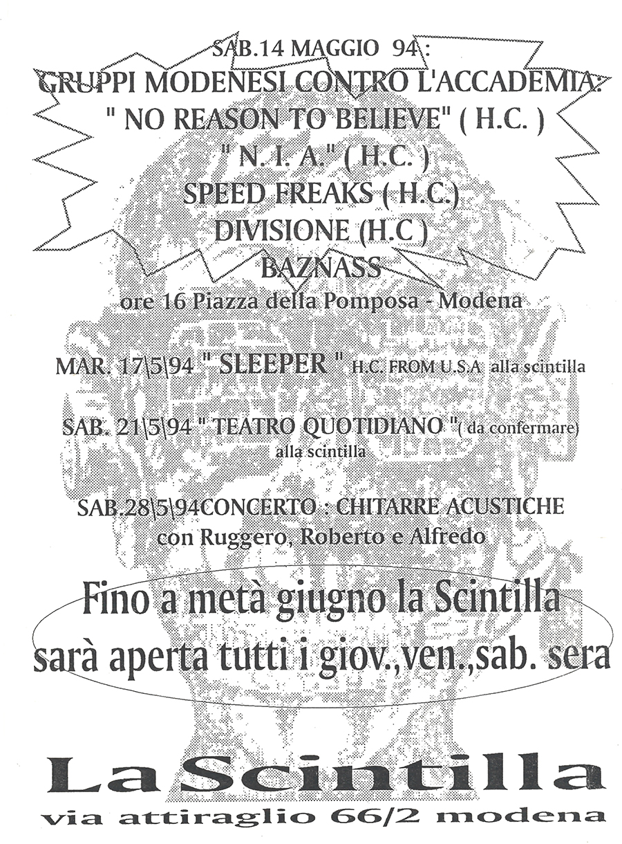 "Locandina ""La Scintilla"" - sabato 14 maggio 1994"