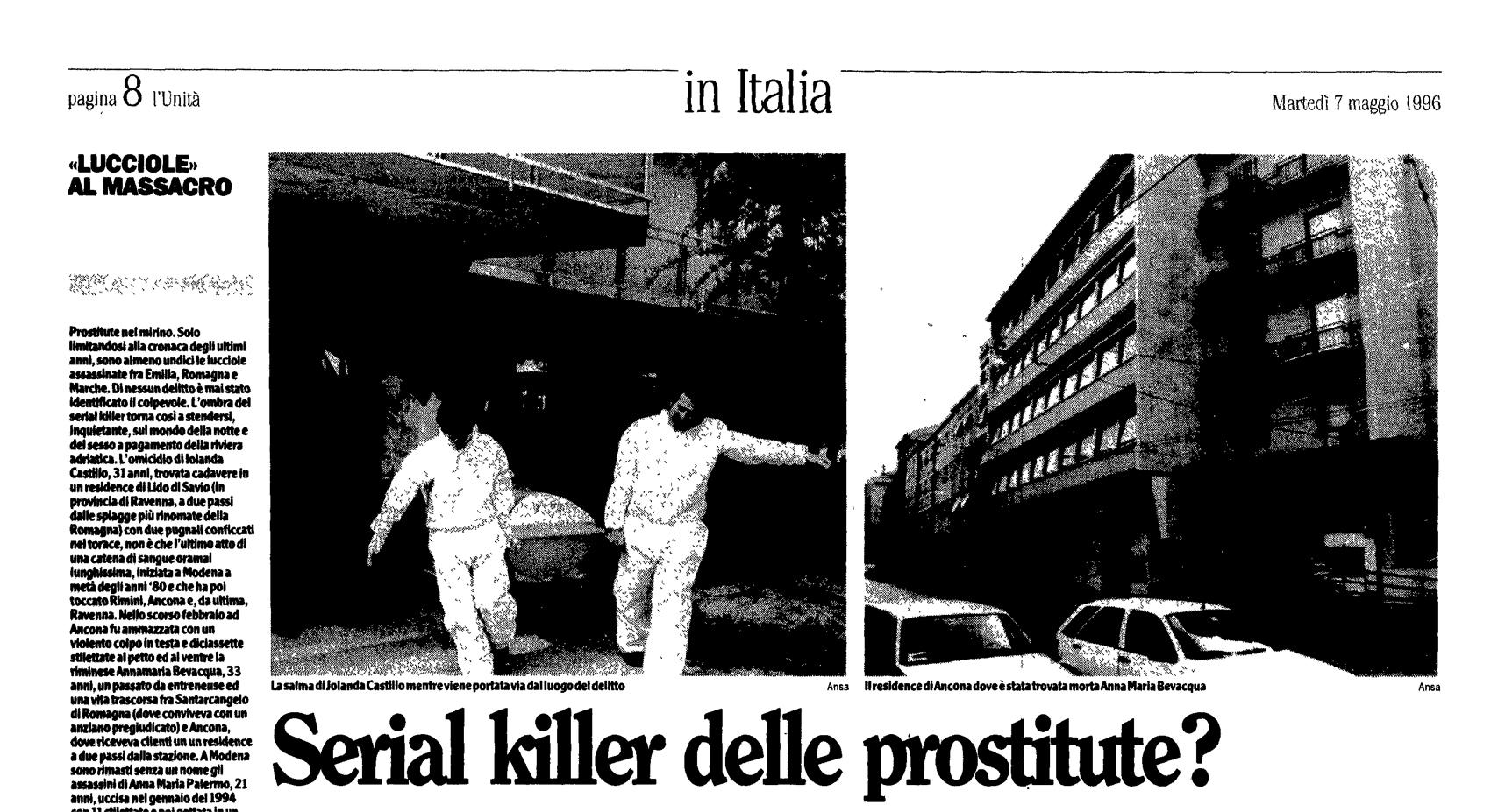 L'Unità, 7 maggio 1996
