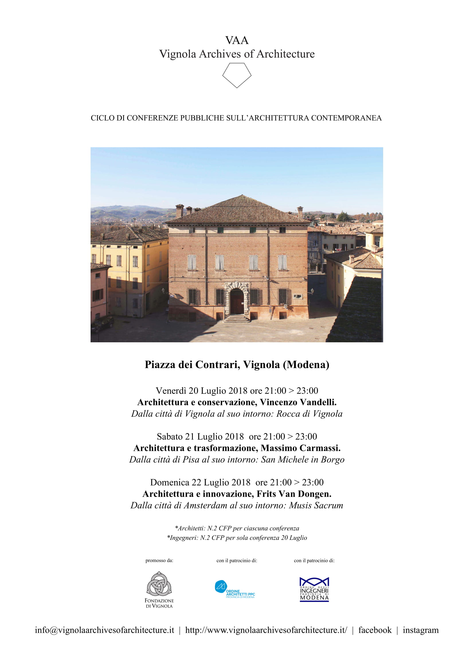 Vignola Archives of Architecture - July 2018