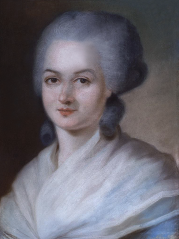 Ritratto di Olympe De Gouges, Alexandre Kucharsky, pastello su tela, sec XXVIII PopHistory