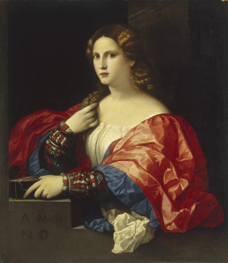 La Bella, Jacopo Palma il Vecchio, olio su tela, 1518/20 PopHistory