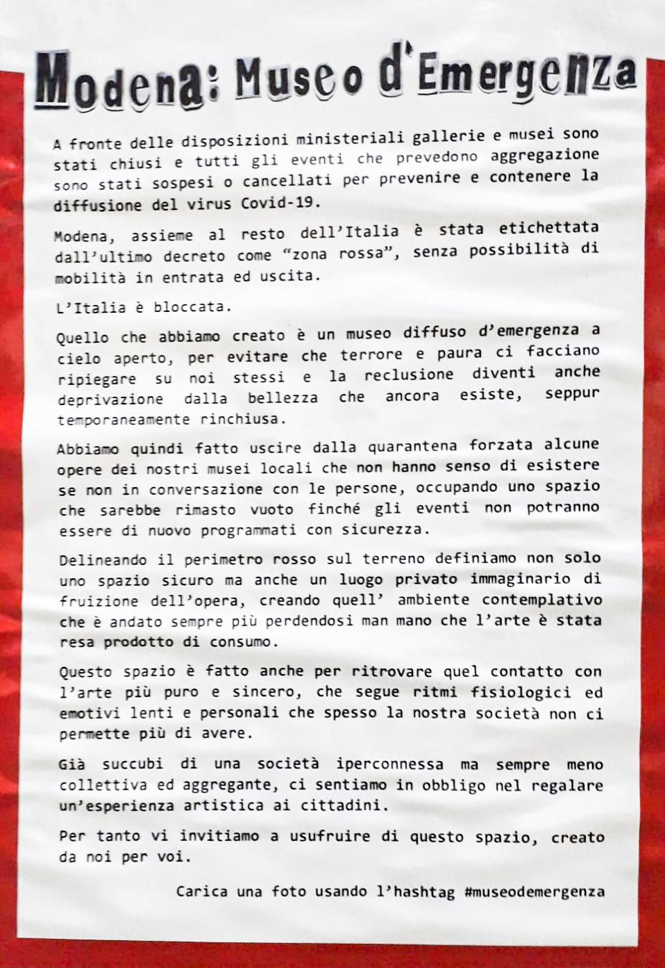 modena museo emergenza manifesto mocu cultura