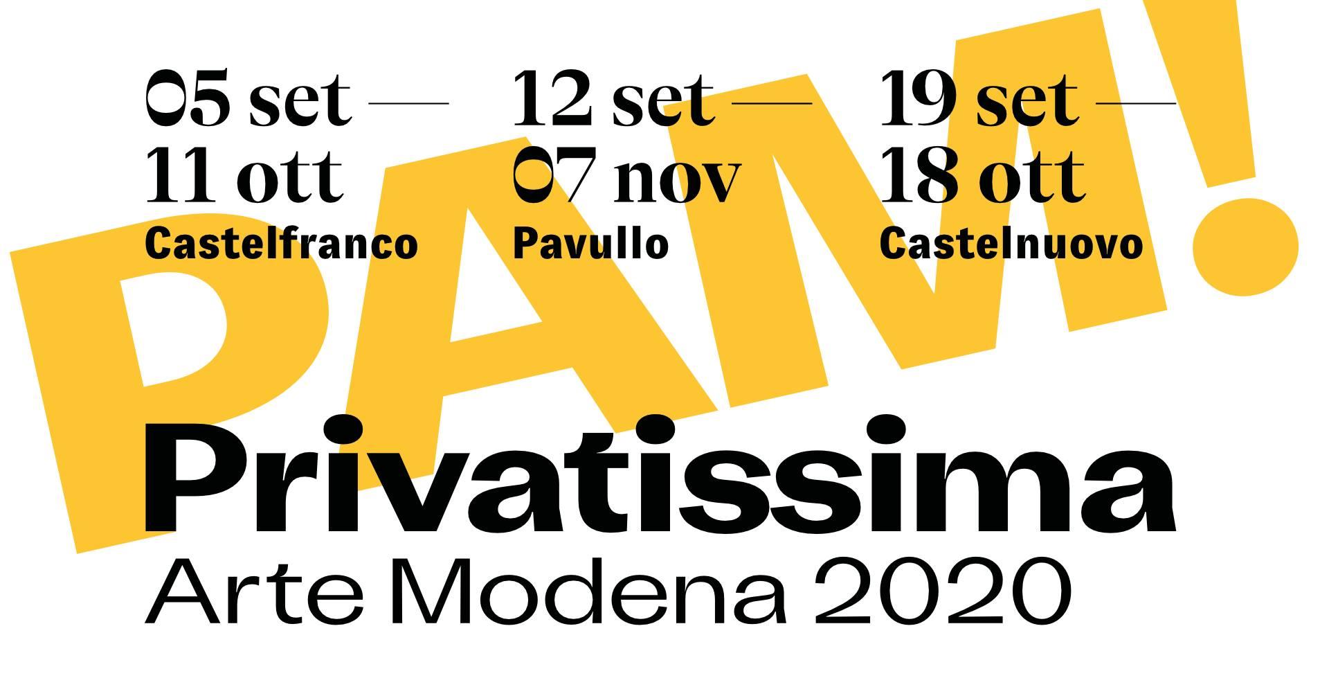 PAM! Privatissima Arte Modena MoCu Modena Cultura